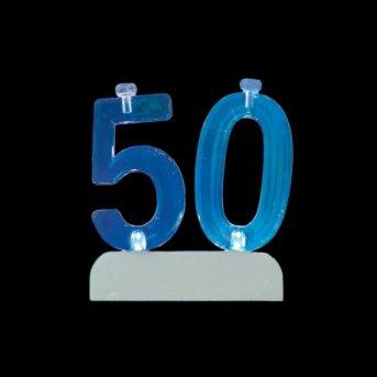 Velas y Número 50 Led