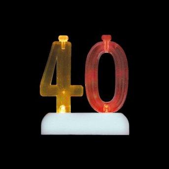 Velas y Número 40 Led