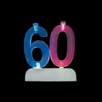Velas y Número 60 Led
