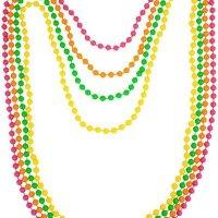 4 Collares Luz UV Colores Variados