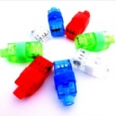Collares fluorescentes y anillos led